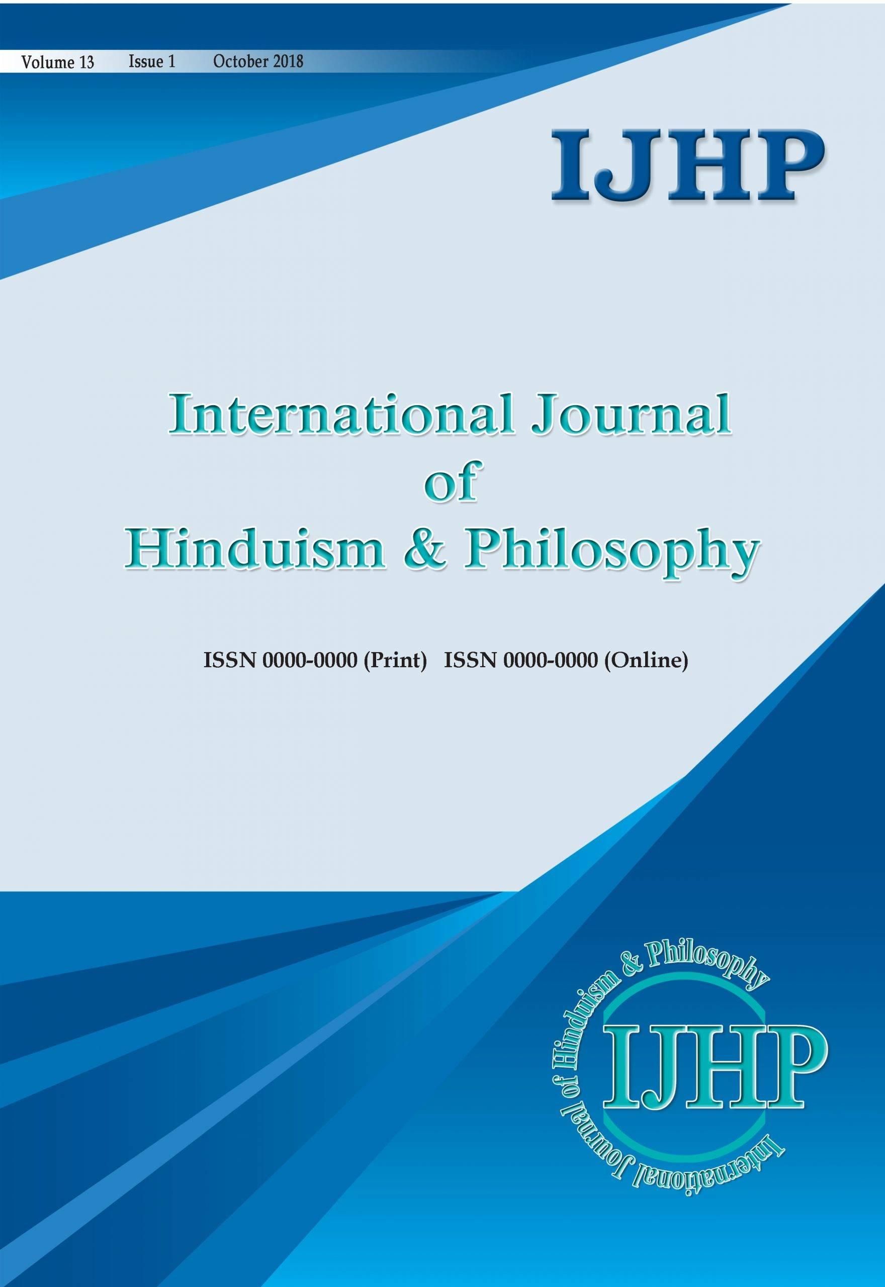 International Journal of Hinduism & Philosophy